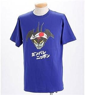 むかしむかし アニメコラボ サッカーW杯日本代表応援Tシャツ 10番 デビルマン ジャパンブルー 3L