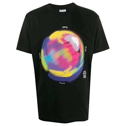 MARCELO BURLON Luxury Fashion Uomo CMAA018E20JER0181068 Nero Cotone T-Shirt | Autunno-Inverno 20