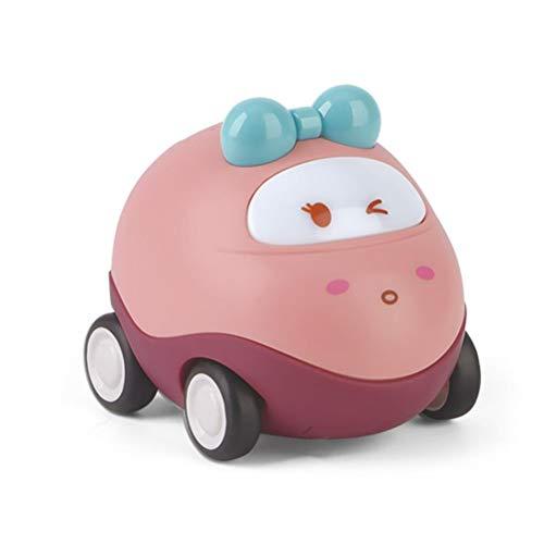 BASOYO Coche de Juguete para niños pequeños, vehículos de tracción, Juguetes con Luces y Juguete Musical para niños de 1, 2, 3 años y niñas.