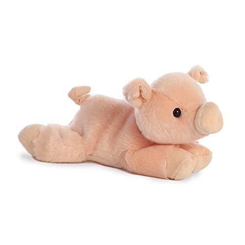 Aurora, 12767, Mini Flopsies Percy Schwein, 20cm, Plüschtier, pink