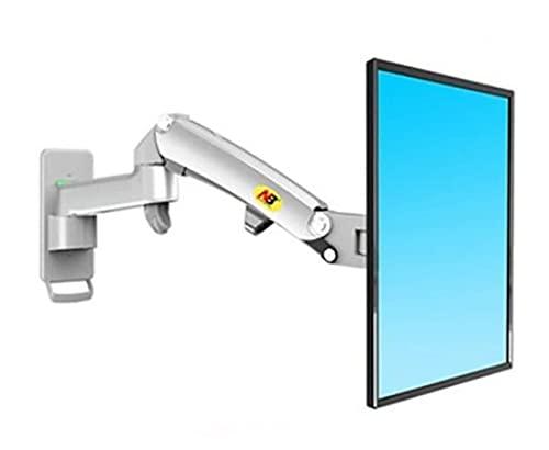 Soporte para Monitor Elevador de aleación de Aluminio 360 Grados 17'-27' Monitoreo de Gas Pared Brazo LED TV LCD Carga de instalación 2-7kgs Brazos de Monitor Soportes (Color: Gris Plateado