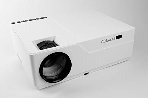 """Projector, CiBest Native 1080p Video Projector 4000Lux Outdoor Movie Projector, up to 300"""" Image Display Ideal for PPT Business Presentations Home Theater Entertainment Parties Games (Black)"""