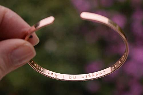Armreif mit Gravur, Roségold-Armband, Rotgold Armband, Trauzeugin, Hochzeit, Schwester Armband, Gravur, Koordinaten, Muttertagsgeschenk
