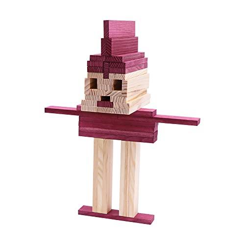 Kapla 9000160 Holzplättchen 40-teilig in Box, violett - 5