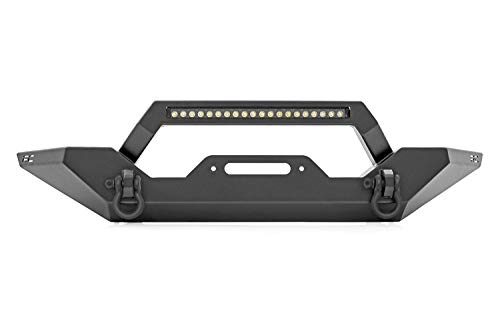 Rough Country Front Full Width LED Bumper (fits) 1987-2006 Jeep Wrangler YJ TJ | 20' Light Bar | Rock Crawling | 10595