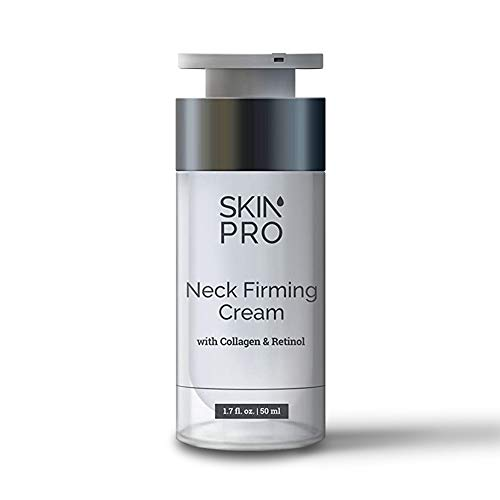 Neck Firming Cream, Anti-Aging Neck Cream for Skin Tightening, Marine Collagen Cream with Peptides for Face and Neck, Retinol Serum for Neck Skin Firming - SkinPro