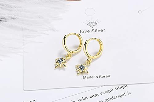 Ear Pins Pendientes Colgantes en Forma de Estrella con Pendientes para Mujer Accesorios Dorado