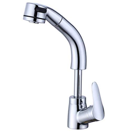 Höhenverstellbarer ausziehbarer Waschbeckenhahn Küchengeschirrspülbecken Waschtisch Waschtische für drei Wege Küchenwasserfilterhahn
