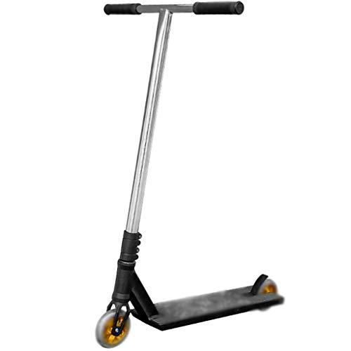 Patinete Scooter De Patada De Estilo Libre para Adultos, Patinete Deportivos para Adolescentes, Puños Estilo Bicicleta, Cubierta De Aluminio Ligero