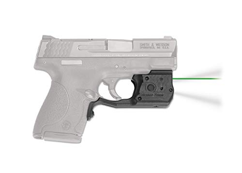 Crimson Trace LL-801G Laserguard Pro with Green Laser, Tactical Flashlight, Heavy Duty Construction and Instinctive Activation for Smith and Wesson M&P Shield, Defensive Shooting and Competition