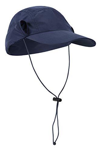 Mountain Warehouse Legionnaire Sonnenhut – leichte Damen-Sommermütze, UV-Schutz, Schweißband innen, Faltbare Krempe – ideal für Camping, Wandern, Outdoor Marineblau