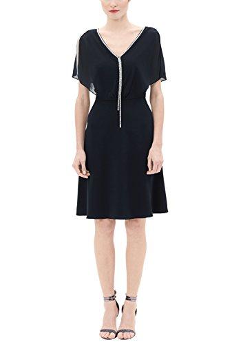 s.Oliver BLACK LABEL Damen Kleid 29703825795, Blau (Blue Love 5959), 44