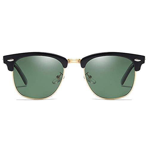 KCGNBQING Gafas de sol Retro Clásico Polarizado Metal Y Plástico UV400 Gafas De Sol Tendencia Verde/Plateado/Marrón/Azul Hombres Y Mujeres Con La Mismo Conducción Gafas De Sol De Moda Hombres/Mujeres