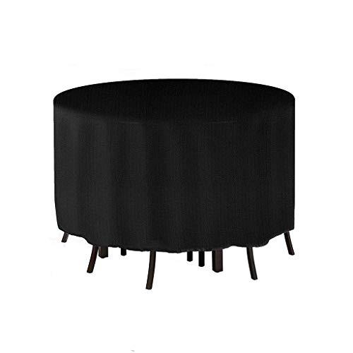 ZSML Cubierta Redonda Negra para Muebles, Cubierta para Mesa de 90 'x43', Protector Impermeable para cenas al Aire Libre, Cubierta de Escritorio a Prueba de Polvo para Muebles de Interior (tamaño