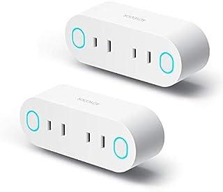 スマートプラグ WiFi スマートコンセント Aoycocr インテリジェント ソケットエネルギー モニタリング Amazon Alexa, GoogleホームやIFTTT対応 2ピン 遠隔操作 スケジュール設定 音声コントロール 日本語アプリ ハブ必要ない 節電 2.4GHzのWIFI接続 技適取得済み 2個セット