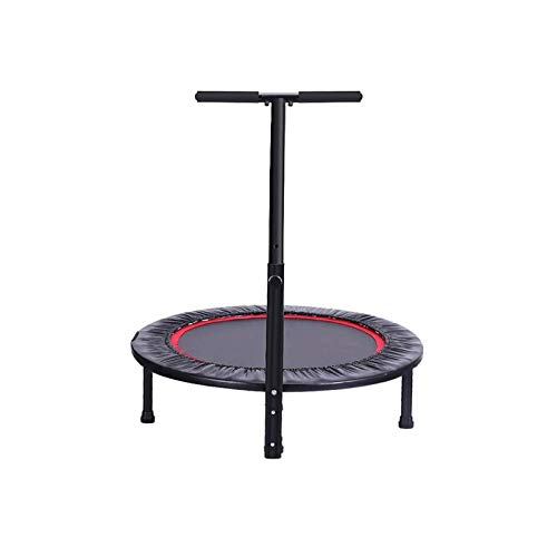 Bdesign Fitness Trampoline for Adults - 40 Inches Indoor Aerobic Exercise Rebounder Jumping Trampolines with Height Adjustable Handle, User Weight Up to 150KG