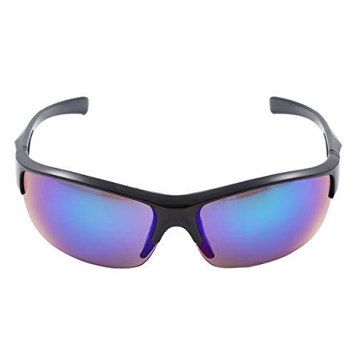 CHICTRY Unisex Sportbrille Fahrradbrille für Herren und Damen Radsportbrille Sonnenbrille UV 400 Schutz Radbrille Polarisiert Windschutz Brille Schwarz One Size