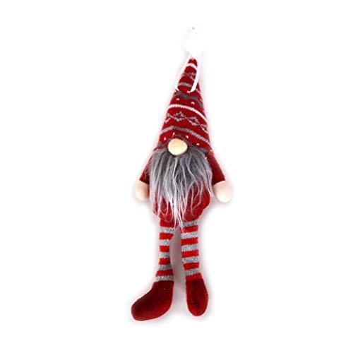 Liaobeiotry Merry Christmas - Gorro largo de Papá Noel sueco con forma de gnomo de felpa para colgar en el árbol...