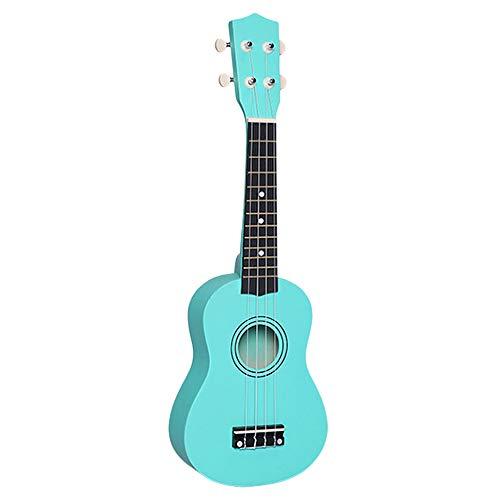 JVSISM 21 Pulgadas Peque?a Acústico Soprano Ukelele Vistoso Ukelele de Tilo Para Principiante Guitarra Aprendiz Verde Barato Uku