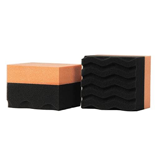 libelyef 2 esponjas de depilación para coche, aplicador de neumáticos para aplicaciones de ceras o vendajes de neumáticos
