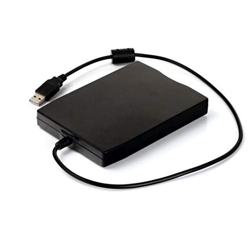 Timetided 3,5 Zoll 1,44 MB FDD Schwarz USB Tragbare Externe Schnittstelle Diskette FDD Externes USB-Diskettenlaufwerk f¨¹r Laptops