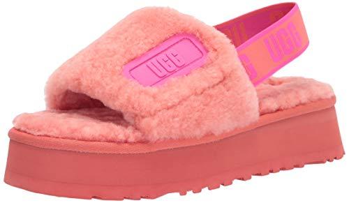 UGG Disco Slide Slipper, Vibrant Coral, Size 5