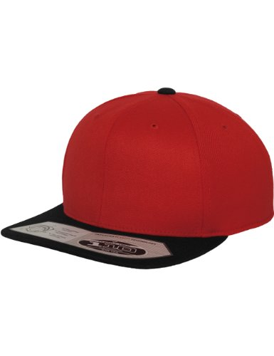 Flex fit 110 Fitted Snapback Red/blk One Size Casquette Unisex-Adult