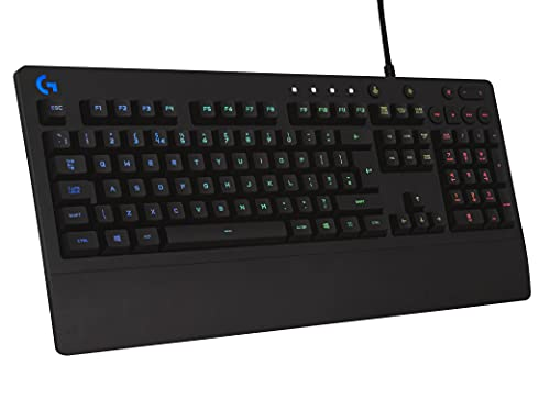Logitech G213 Gaming Keyboard with Dedicated Media Controls, 16.8 Million Lighting Colors Backlit Keys, Spill-Resistant and Durable Design, Black
