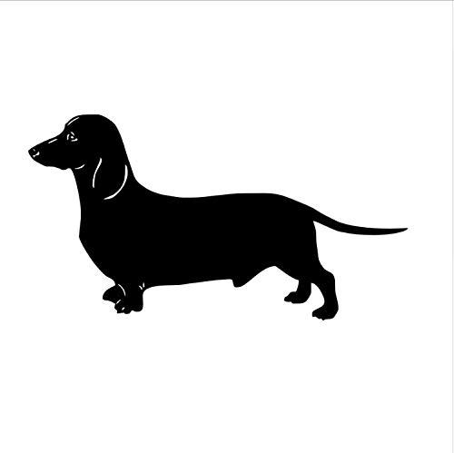 yiyishop Dackel Hund Wandaufkleber Für Kinderzimmer Vinyl Abnehmbare Tier Tapete Aufkleber Dekoration Zubehör 58X107 cm