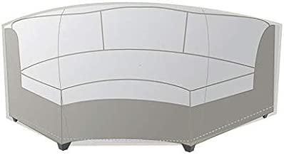 TK Classics Barbados/Laguna Curved Armless Sofa Outdoor Protective Cover, Beige