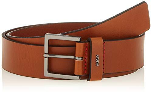 HUGO Giove-l_sz35 Cinturón, Marrón (Medium Brown 210), 130 (Talla del fabricante: 115)...