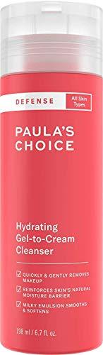 Paula's Choice Defense Gel to Cream Gezichtsreiniger - Milde Gezichtsreiniging vertsterkt de Huidbarrière & Verwijdert Make-up - met Aminozuren - Alle Huidtypen - 198 ml