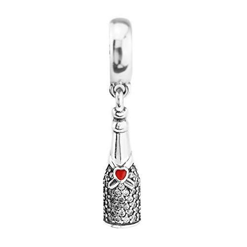 Diy 925 Pandora Colgante Fit Pulseras De Marca Cuentas Para Hacer Joyas Sterling-Silver-Jewelry Celebration Time Bead Charms Plata