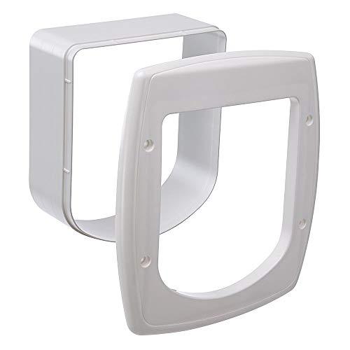 Ferplast Extension pour Porte pour Chats Chatière avec Puce Porte Basculante Swing Microchip Extension, 22,5 X 16,2 X H 25,2 cm, Profondeur 5 cm, Blanche