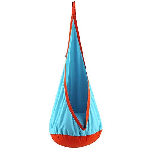 GBHJJ Indoor Baby Swing, Kids Swing Hangmat Pod Stoel, Outdoor en Indoor gebruik Opblaasbare Hangstoel Sensory Seat luchtblauw