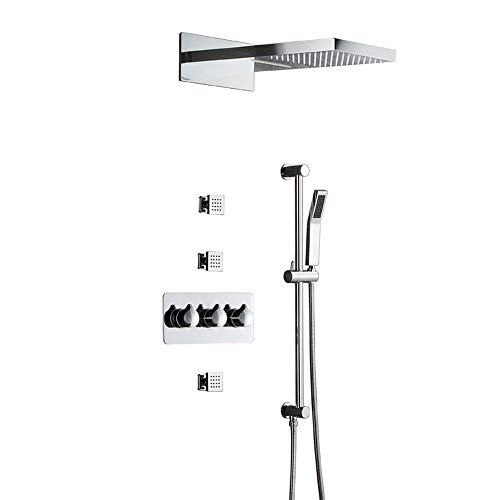 Sale!! CGGDP Shower Faucets Set for Bathroom, Wall Mounted Shower Set Rough-in Mixer Valve and Trim ...