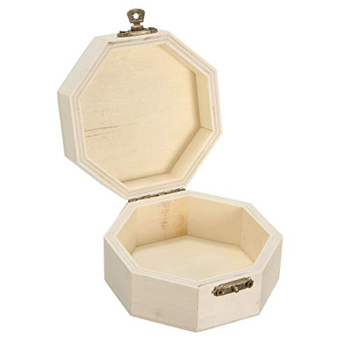 xingxing Caja de almacenamiento y organización de madera para manualidades