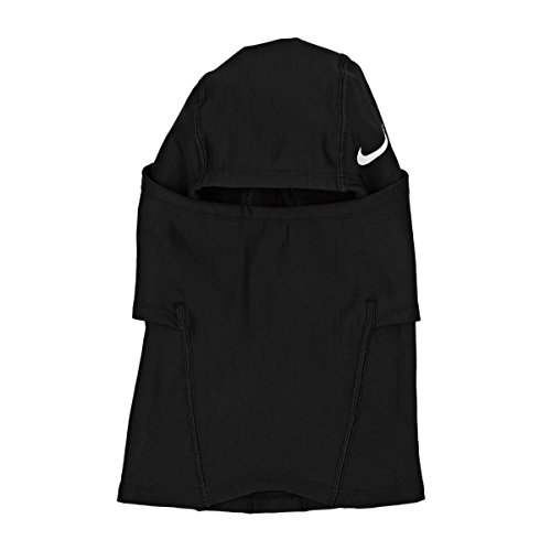 Nike Pro Hyperwarm Hood, One Size Fits Most, Adult (Black/White)