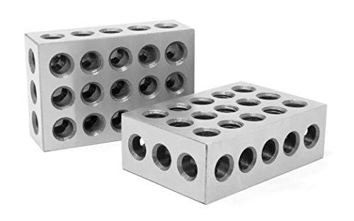 WEN 10423 3 x 2 x 1-Inch Steel-Hardened Precision 123 Blocks, Two Pack