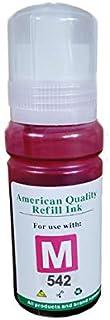 Vivid Colors Magenta Compatible Ink Refill Bottle Replacement for T542 542 Refill Ink for ET-5800 ET-5850 ET-16600 ET-1665...