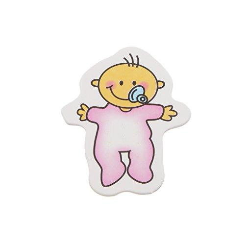 25pcs Stickers Muraux Baby Shower Décorations Tablier de La Maison - Rose, Dessin de Tétine