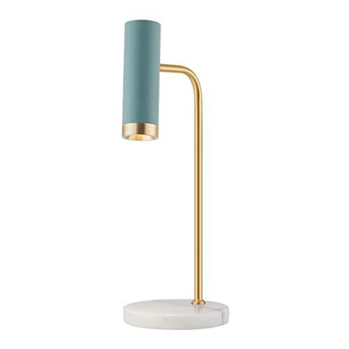 Lámpara de mesa Lámpara de mesa de latón habitación Luxury Light Study Desk lámpara de cabecera del interruptor del tacto lámpara de mesa de mármol Base de la lámpara Jefe ángulo ajustable regulable L