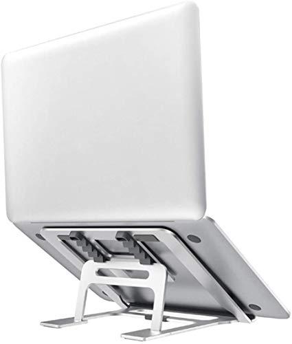 Viixm Supporto PC Portatile 5 Angolazioni Regolabili Portatile Porta Notebook Pieghevole in Alluminio Ventilato Porta PC Supporto per MacBook, Huawei Matebook, dell, HP, Lenovo And 10-15.6' Laptops