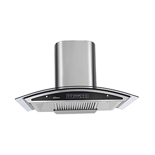 SUNFLAME 60 cm 1230 m3/hr Auto Clean Chimney (InnovaDx60, 2 Baffle Filters, Touch Control, Steel/Grey)