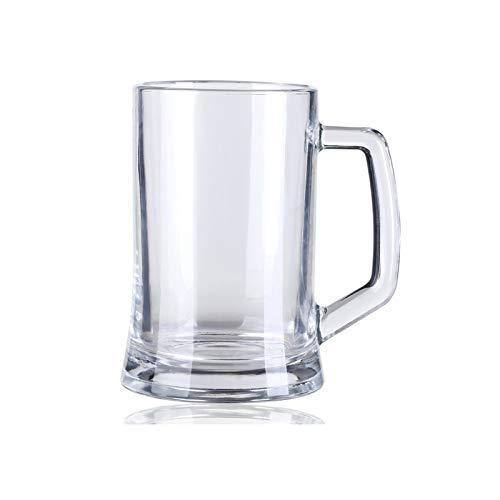 DALIZHAI2021 Taza De Cerveza De Gran Capacidad con Mango 500ml Gafas De Cerveza Excelente para Las Tazas Reutilizables De La Fiesta Conjunto De 5 Materiales De Vidrio