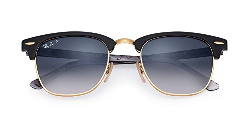 Ray-Ban RB 3016 Gafas de sol, Negro (Black Gold/black Grey), 49 centimeters Unisex Adulto