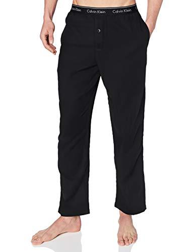 Calvin Klein Sleep Pant Pantalón de Pijama, Black, S Unisex Adulto