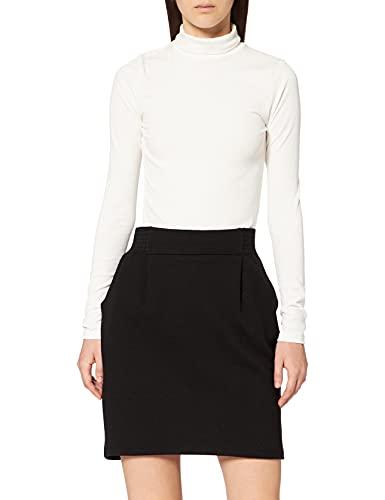 Naf Naf Maillard Uni Jupe Femme Noir (Noir 625) 40 (Taille fabricant: 40)