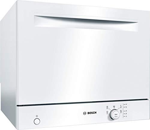 Bosch SKS50E42EU Serie 2 - Lavavajillas compacto independiente, F, 55 cm, blanco, 61 kWh/100 ciclos, 6 MGD, EcoSilence Drive™, sensor de carga
