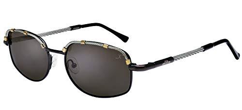 Xezo AIRMAN 2002 R CABLE, Gafas de sol para hombre, Gris Oscuro Metálico, 1 oz